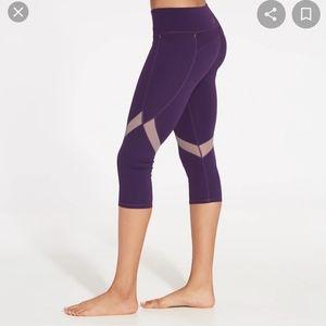 Calia Energize Purple Capri Crop Leggings S